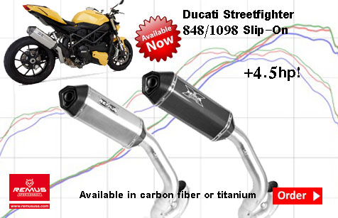 REMUS EXHAUST STREETFIGHTER BEST PRICE SALE DISCOUNT US DISTRIBUTOR 848 1098 TITANIUM CARBON