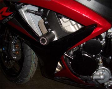 Krator No Cut Frame Sliders Motorcycle Fairing Protectors For 2003 Suzuki GSXR 600