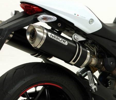 ducati monster 696 796 1100 performance exhaust slipon motovation arrow