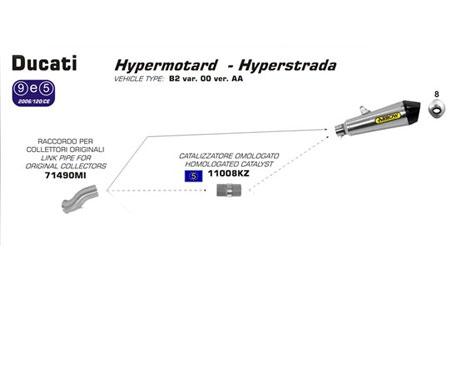 rizoma ducati hyper hypermotard 821 820 hyperstrada exhaust termi termignoni ecu reflash power dyno racing parts 2013 2014 rearset