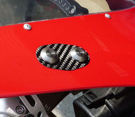Ducati 1098 1198 848 Carbon Mirror Blockoff Plates By Sato