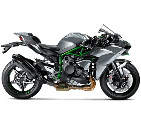 kawasaki h2 carbon slip on exhaust system by akrapovic. Black Bedroom Furniture Sets. Home Design Ideas