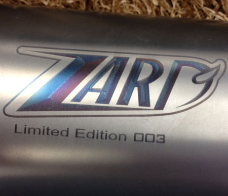 zard titanium limited edition racing arrow usa exhaust slip on silencer performance exhaust motovation