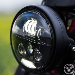 Single 7 Inch EVO S LED Headlight Conversion Kit by Motodemic