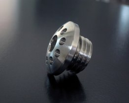 Titanium Oil Filler Plug by Motocorse