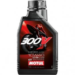 1L 300V Factory Line Road Racing Synthetic 4T Engine Oil by Motul