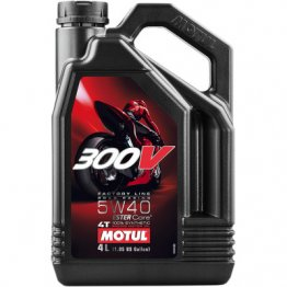 300V Factory Line Road Racing Synthetic 4T Engine Oil by Motul