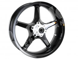5 Spoke Carbon Fiber 5.5 x 17 Rear Wheel by BST