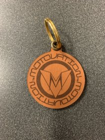 Limited Edition Roundel Leather Keychain by Motovation