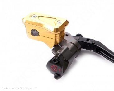 New Style Billet Brake Reservoir for Brembo Radial Master Cylinders by MotoCorse Ducati / Monster 696 / 2012