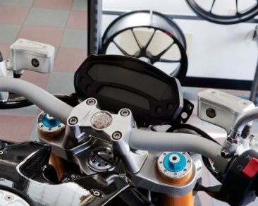 Billet Reservoirs for Brembo OEM Semi-Radial Master Cylinders - Naked bike version by MotoCorse