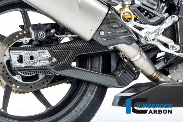 Carbon Fiber Right Side Swingarm Cover by Ilmberger Carbon