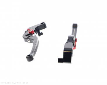 Standard Length Folding Brake And Clutch Lever Set by Evotech Aprilia / RSV4 R / 2015