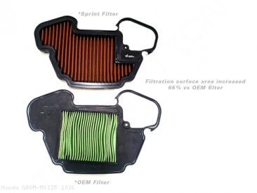 P08 Air Filter by Sprint Filter Honda / GROM MX125 / 2016