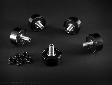 Titanium Stud Rubber Cush Dampers by AEM Factory Ducati / Monster 1100 EVO / 2012