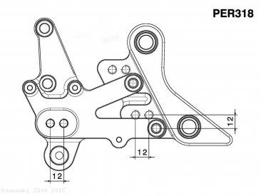 RRC Rearsets by Rizoma Kawasaki / Z800 / 2013 (PER318B)