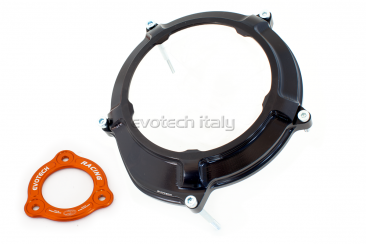 Clear Clutch Cover and Inner Pressure Ring by Evotech Italy