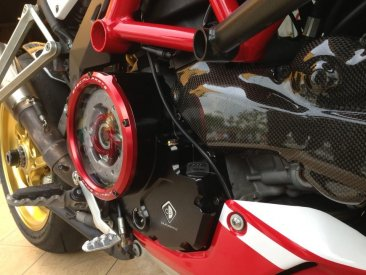 Ducati Wet Clutch Clear Cover Oil Bath with Support Bracket by Ducabike