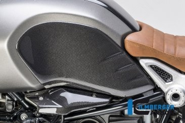 Carbon Fiber Side Tank Cover by Ilmberger Carbon BMW / R nineT / 2015