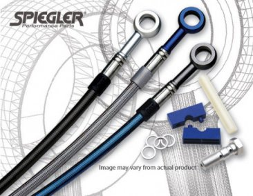 Stainless Steel Premium Front and Rear Brake Line Kit by Spiegler