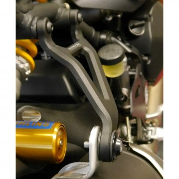Exhaust Hanger Bracket with Passenger Peg Blockoff by Evotech Performance