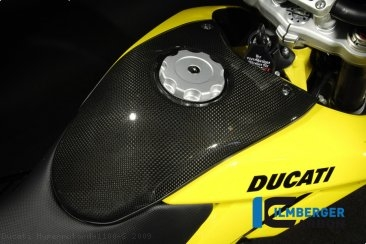 Carbon Fiber Center Tank Cover by Ilmberger Carbon Ducati / Hypermotard 1100 S / 2009