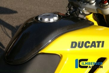 Carbon Fiber Center Tank Cover by Ilmberger Carbon Ducati / Hypermotard 1100 EVO / 2011