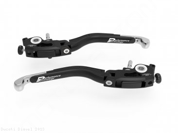 Adjustable Folding Brake and Clutch Lever Set by Ducabike Ducati / Diavel / 2013