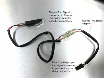 "EE078H Turn Signal ""No Cut"" Cable Connector Kit by Rizoma"