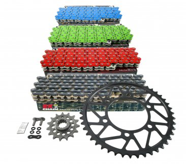 Superlite RS7 Series 520 Conversion Steel Sprocket and Colored Chain Kit