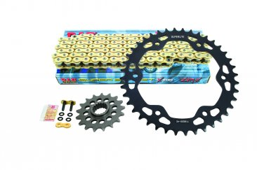 Superlite 525 Pitch Direct Replacement Steel Sprocket and Chain Kit