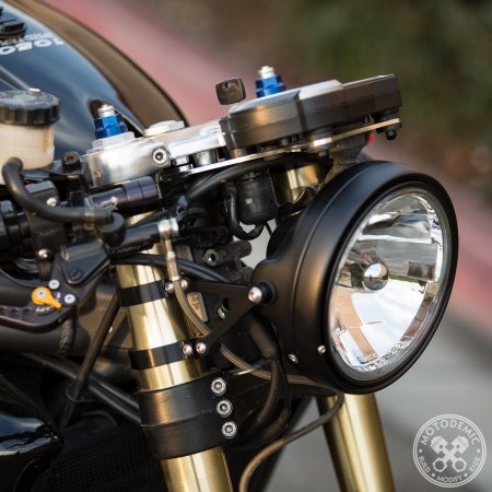 Single Headlight Conversion Mount Kit by Motodemic