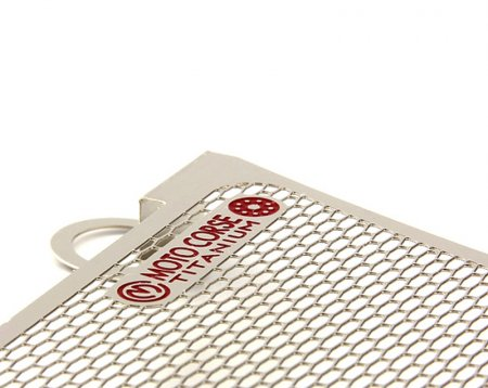 Titanium Lower Oil Cooler Guard by MotoCorse
