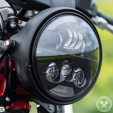 Single 7 Inch EVO S LED Headlight Conversion Kit by Motodemic Ducati / Monster 1200 / 2015