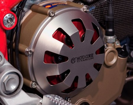 Titanium Clutch Cover for Dry Clutch Ducati by MotoCorse