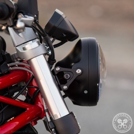 Adaptive LED Headlight Conversion Kit by Motodemic Ducati / Monster 696 / 2013