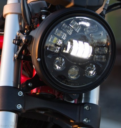 Adaptive LED Headlight Conversion Kit by Motodemic Ducati / Monster 1100 / 2009