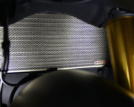 Titanium Upper Radiator Guard by MotoCorse
