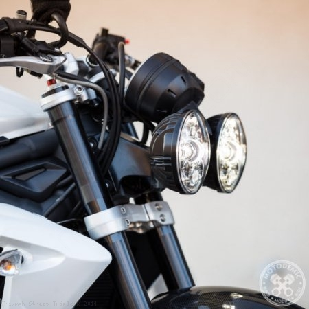 Adaptive LED Headlight Conversion Kit by Motodemic Triumph / Street Triple R / 2014