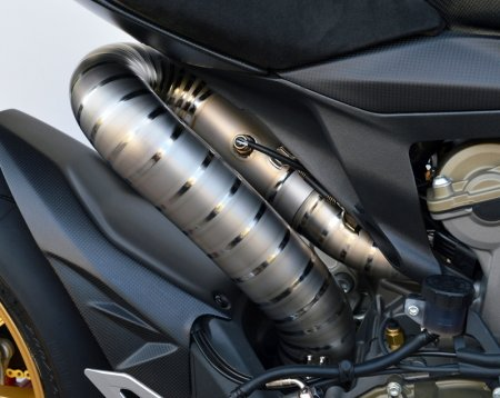 D75 Titanium Headers for Akrapovic Slipons by MotoCorse