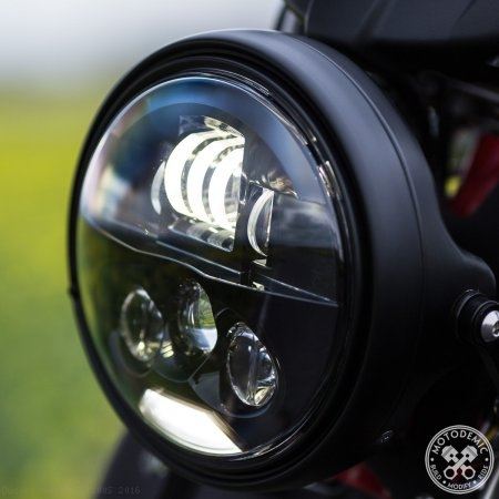 Single 7 Inch EVO S LED Headlight Conversion Kit by Motodemic Ducati / Monster 1200S / 2016