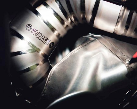 D75 Titanium Headers for Termignoni Slipons by MotoCorse