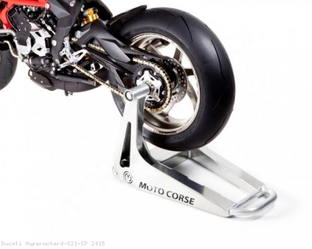 "Single Sided ""SBK"" Rear Stand by MotoCorse Ducati / Hypermotard 821 SP / 2015"