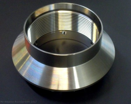 Billet Titanium Rear Axle Wheel Nut by MotoCorse MV Agusta / Rivale 800 / 2017