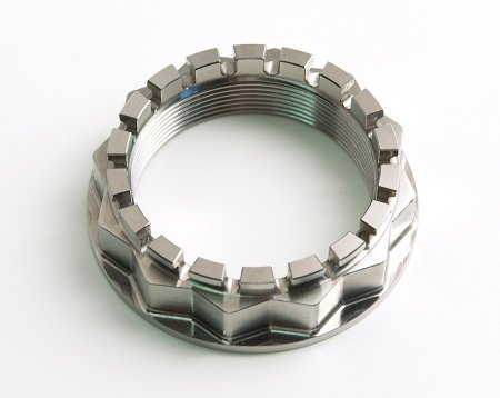Billet Titanium Rear Axle Wheel Nut by MotoCorse