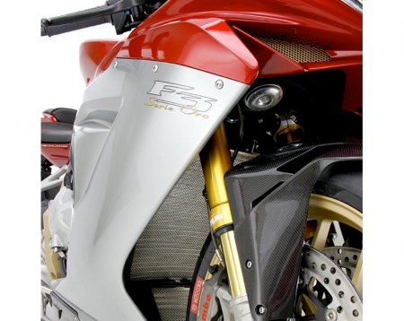 Titanium Radiator Guard By Moto Corse