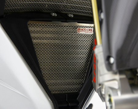 Titanium Oil Cooler Guard By Moto Corse