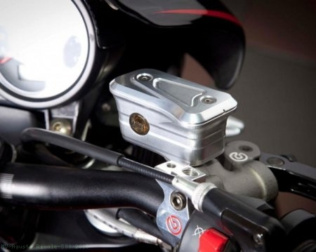 New Style Billet Brake Reservoir for Brembo Radial Master Cylinders by MotoCorse MV Agusta / Rivale 800 / 2016