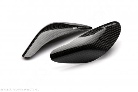 Carbon Fiber Street Version Tank Slider Kit by Strauss Carbon Aprilia / RSV4 Factory / 2011