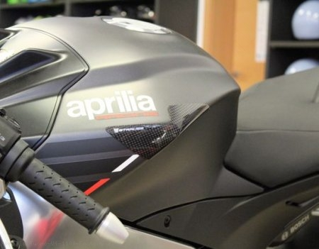 Carbon Fiber Street Version Tank Slider Kit by Strauss Carbon Aprilia / Tuono V4 1100 Factory / 2018